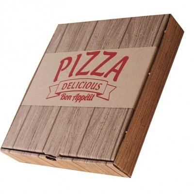 BaskılıPizza Kutusu 30x30x4 cm (100 Adet)