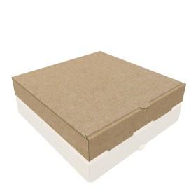 Baskısız Pizza Kutusu 22x22x4 cm (100 Adet)