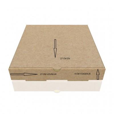 E-Ticaret Karton Kargo Kutusu  27x27x4 cm 0.97 Desi  (100 Adet)