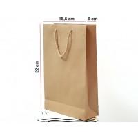 Kraft Karton Çanta 100 ADET 15,5*22*6 cm 1.Sınıf El Yapımı Yerli Üretim