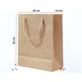 Kraft Karton Çanta 100 ADET 20*25*10 cm 1.Sınıf El Yapımı Yerli Üretim