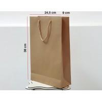 Kraft Karton Çanta 100 ADET 24,5*38*9 cm 1.Sınıf El Yapımı Yerli Üretim