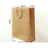 Kraft Karton Çanta 100 ADET 32*38*12 cm 1.Sınıf El Yapımı Yerli Üretim
