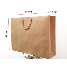 Kraft Karton Çanta 100 ADET  38*54*12 cm 1.Sınıf El Yapımı Yerli Üretim