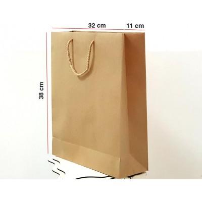 Kraft Karton Çanta 25 ADET 32*38*12 cm 1.Sınıf El Yapımı Yerli Üretim
