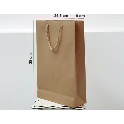 Kraft Karton Çanta 25 ADET 24,5*38*9 cm  1.Sınıf El Yapımı Yerli Üretim