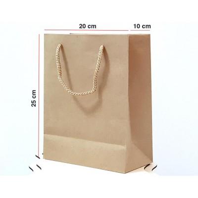 Kraft Karton Çanta 25 ADET 20*25*10 cm 1.Sınıf El Yapımı Yerli Üretim