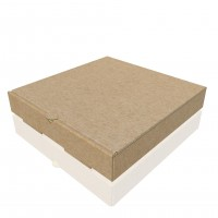 Baskısız Pizza Kutusu 24x24x4 cm (100 Adet)