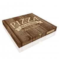 Baskılı Pizza Kutusu 26x26x4 cm (100 Adet)